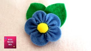 Felt Flower #4 - DIY : How To Make Easy Felt Flower / Spring Crafts.