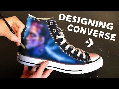 Painting and Designing Customized Converse