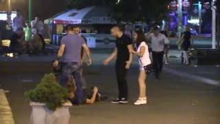 Пьяная драка в центре Днепра (Днепропетровска)