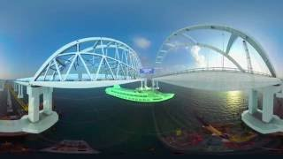 Соединяем берега: RT представляет визуализацию Крымского моста через Керченский пролив (ВИДЕО 360)
