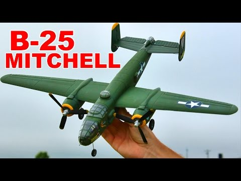 Flyzone B-25 Mitchell Review and Flight – 4 Channel RC Plane – TheRcSaylors