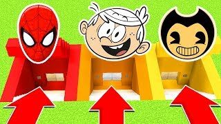 DO NOT CHOOSE THE WRONG SECRET BASE (Spiderman,LoudHouse,Bendy) (Ps3/Xbox360/PS4/XboxOne/PE/MCPE)