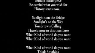What kind of world do you want?