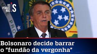 Bolsonaro diz que vai vetar fundão eleitoral de quase R$ 6 bilhões