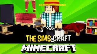 The Sims Craft Ep.2 - Primeiro Emprego e Móveis Para Casa - Minecraft