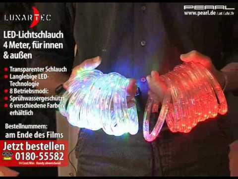Lunartec LED-Lichtschlauch warmweiß 4 Meter, für innen & außen