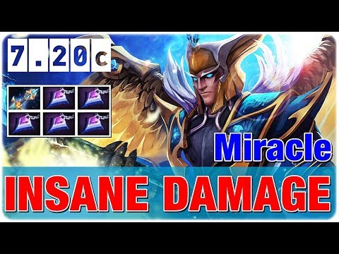 Miracle Skywrath Mage MID Insane Damage Dota 7.20c New Patch