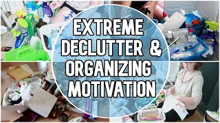 Messy House Clean With Me 2019 | All Day Whole House Cleaning Declutter & Organize | SAHM Motivation