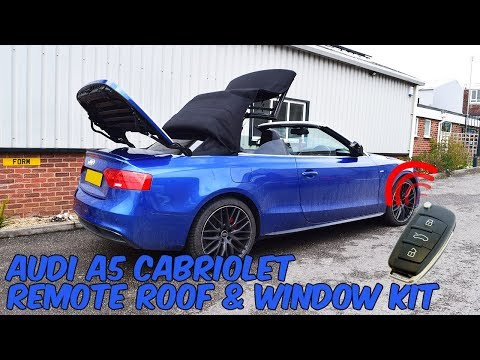 Audi A5 Cabriolet 8T & F5 Remote Roof Open & Close Kit