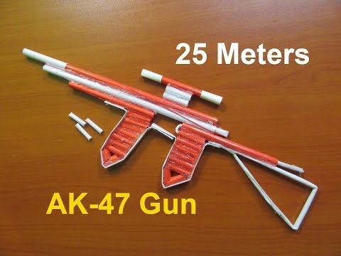 How to Make a Paper AK-47 Gun That Shoots 25 Meters  (Upgraded Version 2.0) - Easy Tutorials