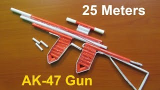 How To Make A Paper AK47 Gun That Shoots 25 Meters  Upgraded Version 20  Easy Tutorials