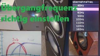 Lautsprecher Übergangsfrequenz zum Subwoofer einstellen. Stereoanlage mit oder ohne Subwoofer?