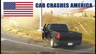 CAR CRASHES IN AMERICA - BAD DRIVERS USA #8 | NORTH AMERICAN DRIVING FAILS