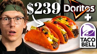 $239 Taco Bell Doritos Locos Tacos Taste Test | FANCY FAST FOOD