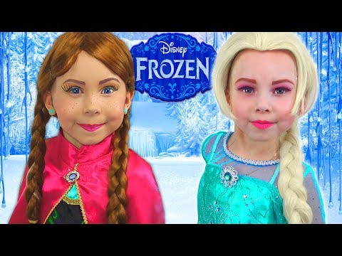 Frozen Elsa And Anna - HOW TO turn into character? (видео)
