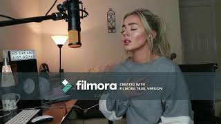 Ed Sheeran Supermarket Flowers( Lyrics Video)(covered By Samantha Harvey)