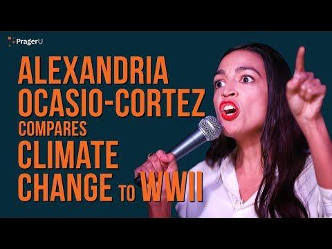 Alexandria Ocasio-Cortez Compares Climate Change to World War 2