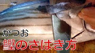 かつおのさばき方1/2(Skipjack tuna)