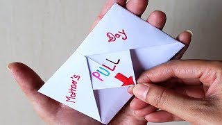 DIY - SURPRISE MESSAGE CARD FOR MOTHER'S DAY | Pull Tab Origami Envelope Card | Mother's Day special
