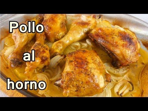 receta POLLO AL HORNO CON PAPAS Y CEBOLLA - recetas de cocina faciles rapidas y economicas