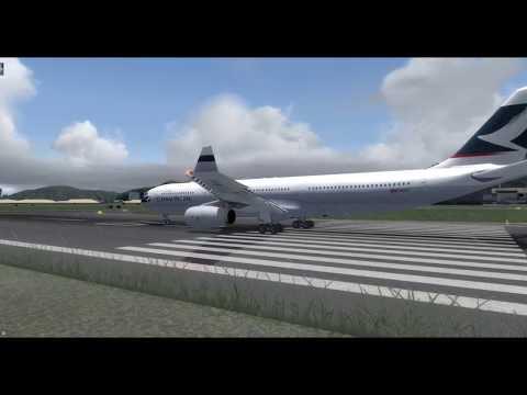 FSLABS A330-300 Merge Cathay Pacific [Prepar3D v4 3] - смотреть