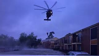 Hurricane Harvey Live Helicopter Rescues! Cajun Navy And Anthony Hewitt, Houston Tx Tidwell Rd