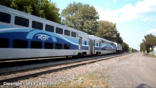 preview picture of video 'AMT Montreal commuter trains - August 2013'