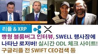 리플&XRP) SWELL 행사장에 나타난 로저버! 빵형 블룸버그 인터뷰, 실시간 ODL 체크 사이트! 구글리플 전 SWIFT CEO검색 등