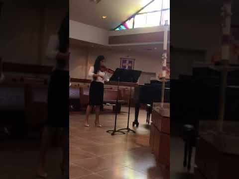 Violin student  at a recent summer recital....Vivaldi G minor 1st mvt.