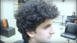 CURLY HAİRCUT ,FANTASTIC, TRANSFORMATİON, MODERN HAIRSTYLES , Men's Hairstyle