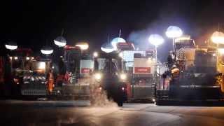 preview picture of video 'Zweimal 48 Stunden Fahrbahnsanierung der Autobahn A9'