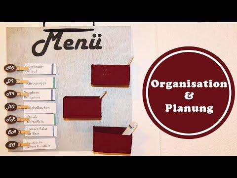 Menüboard - ein guter Vorsatz fürs neue Jahr   mehr Organisation und Planung