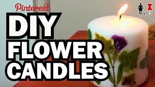 DIY Pressed Flower Candles, Corinne VS Pin #26 by ThreadBanger