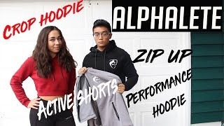 ARE THEY BAD? ALPHALETE CROP, PERFORMANCE, & ZIP HOODIE + ACTIVE SHORTS