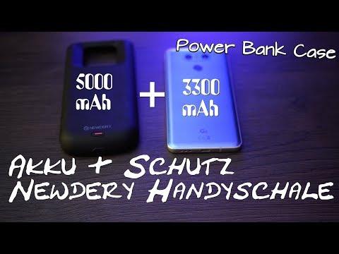 Case als PowerBank 5000 mAh +  Schutz / Newdery Review Beste mobile PowerBank auch für Iphone X / 8