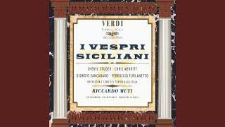 I Vespri Siciliani, Act II: Ai nostri fidi nunzio ... Santo amor che in me favelli (Procida/Coro)