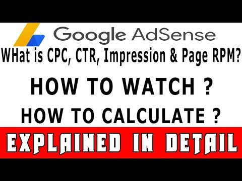 What is CRT,CPC,RPM In Google Adsense