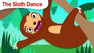 Learn the Sloth Dance | Sleepy Jungle Animal | Twist, Shake and Jump! | by Little Angel