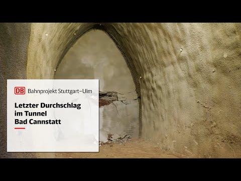 Letzter Durchschlag im Tunnel Bad Cannstatt