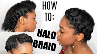 HOW TO: HALO Braid On STRETCHED NATURAL HAIR