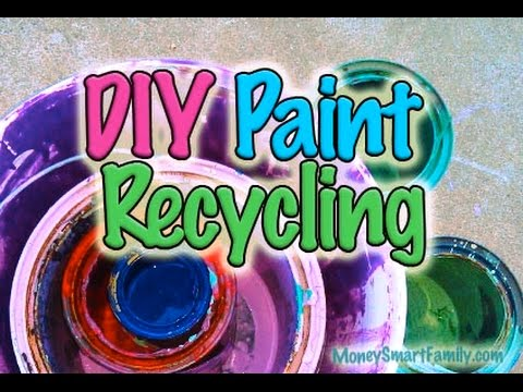 Recycle and Repurpose Left Over Paint/ Combining Paint/ Mixing Paint Video/ Steve Economides