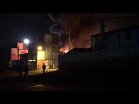 Фото Крупный пожар на складе в Подольске // РИАМО в Подольске