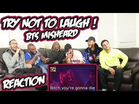 BTS Try Not Laugh - Misheard Lyrics Reaction/Review