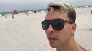 Пляж Майами Бич Нападения акул на человека Холодный Атлантический океан 04.17 Miami Beach Florida