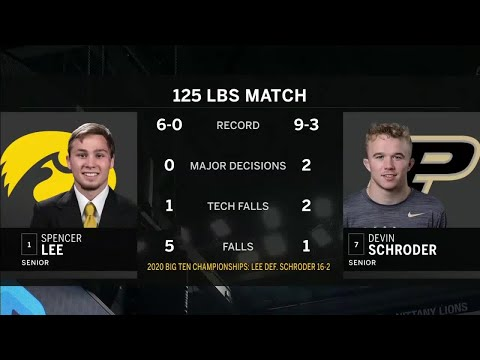 125 LBS: #1 Spencer Lee (Iowa) vs. #7 Devin Schroder (Purdue) | 2021 B1G Wrestling Championships