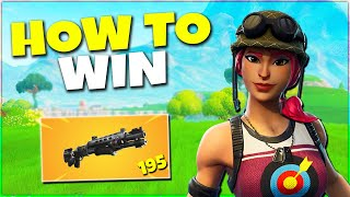 How To Win Your 1st Solo With New Shotgun! Fortnite Season 9