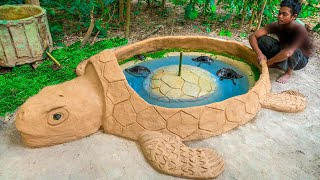 Rescue Turtle From Dry Up Place Build Tortoise Pond for Turtle Shelter Temporary