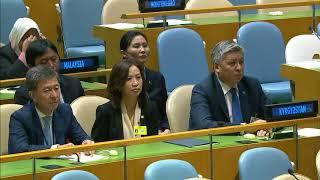 Президент Алмазбек Атамбаев выступил на 72-й сессии Генеральной Ассамблеи ООН
