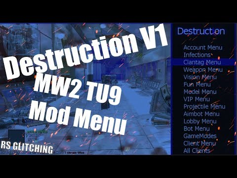 MW2 TU9 - *DESTRUCTION V1 MOD MENU \