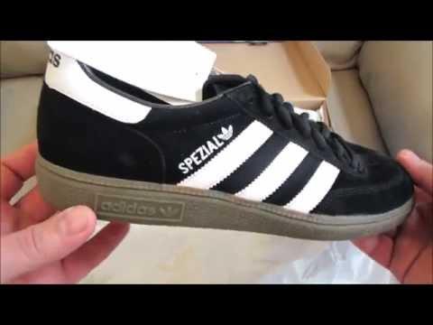 Adidas Originals Spezial Shoes Black Retro Sneakers Unboxing